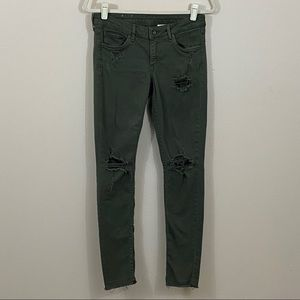 H&M Jeans Skinny Green Size 28